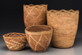 American Indian Art:Baskets, Four Plateau Baskets... (Total: 4 Items)