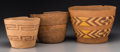 American Indian Art:Baskets, Three Tlingit Twined Baskets... (Total: 3 Items)