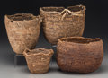 American Indian Art, Four Plateau Baskets... (Total: 4 Items)