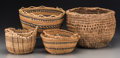 American Indian Art:Baskets, Four West Coast Baskets... (Total: 4 Items)