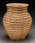 American Indian Art:Baskets, A Large Papago Coiled Storage Jar...