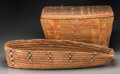 American Indian Art:Baskets, Two Northwest Coast Imbricated Basketry Items... (Total: 2 Items)