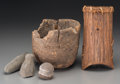 American Indian Art:Baskets, Five Plateau Utilitarian Items... (Total: 5 Items)