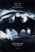 "Movie Posters:Action, Batman Returns & Others Lot (Warner Brothers, 1992). One Sheet(2) (27"" X 40"") SS Advance Logo Style & Mylar One Sheet(26.7... (Total: 3 Items)"