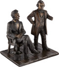 Political:3D & Other Display (1896-present), Abraham Lincoln and Stephen A. Douglas: Debate Bronze....