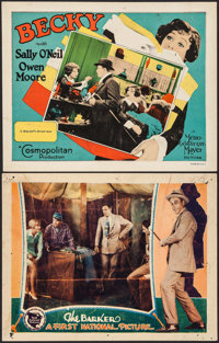 "The Barker & Other Lot (First National, 1928). Lobby Cards (2) (11"" X 14""). Romance. ... (Total: 2 Ite..."