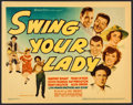 "Movie Posters:Comedy, Swing Your Lady (Warner Brothers, 1938). Title Lobby Card (11"" X14""). Comedy.. ..."