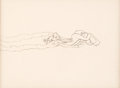 Animation Art:Production Drawing, Bugs Bunny and the Three Bears Animation Drawing (Warner Brothers, 1944)....