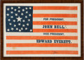 Political:3D & Other Display (pre-1896), Bell & Everett: A Deceptively Scarce and Important 1860 Name Flag....