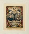 Political:Small Paper (pre-1896), McClellan & Pendleton: Currier Grand National Banner....