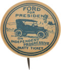 Political:Pinback Buttons (1896-present), Henry Ford: An Iconic 1924 Presidential Hopeful Button Picturing aModel T....
