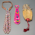 American Indian Art:Beadwork and Quillwork, Three Plains Beaded / Quilled Items... (Total: 3 Items)