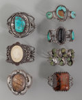 American Indian Art:Jewelry and Silverwork, Seven Navajo Bracelets. ... (Total: 7 )