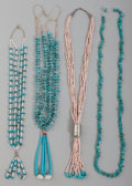 American Indian Art:Jewelry and Silverwork, Four Pueblo Necklaces. ... (Total: 4 )