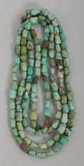 American Indian Art:Jewelry and Silverwork, Two Strands of Chinese Turquoise Nuggets... (Total: 2 )