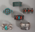 American Indian Art:Jewelry and Silverwork, Six Navajo Bracelets... (Total: 6 )