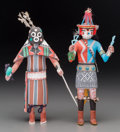 American Indian Art:Kachina Dolls, Two Contemporary Hopi Kachina Dolls... (Total: 2 Items)