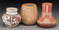 American Indian Art:Pottery, Three Southwest Pottery Jars. Frog Woman (Joy Navasie), PriscillaMaho, Blue Corn (Crucita Gonzales) ... (Total: 3 Items)
