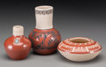 American Indian Art:Pottery, Three Southwest Pottery Jars. Nampeyo, Thomas Polacca, MinnieVigil... (Total: 3 Items)