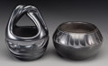 American Indian Art:Pottery, Two Southwest Blackware Jars. Florence Chavarria and Eva &Carmileo Suazo... (Total: 2 Items)