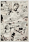 Original Comic Art:Panel Pages, Rich Buckler and Dick Giordano DC Comics Presents #33 Page Original Art (DC, 1981)....