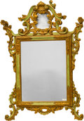 Paintings, A Baroque-Style Painted and Partial Giltwood Mirror Frame. 51 x 34-1/2 inches (129.5 x 87.6 cm). ...