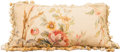 Decorative Arts, Continental, An Aubusson Tapestry Fragment Pillow, 19th century and later. 15inches high x 25 inches wide (38.1 x 63.5 cm). ...