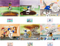 Animation Art:Limited Edition Cel, Bugs Bunny/The Upper Deck Suite Trading Card Limited EditionCels Set of 6 - #7/100 (Warner Brothers/Upper Deck, 1991)...(Total: 6 Original Art)