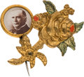 Political:Pinback Buttons (1896-present), William McKinley: Mechanical Rose Stickpin....