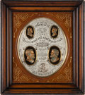 Political:3D & Other Display (pre-1896), Grant & Colfax: A Superb, Ornate Shadow Box Display for these 1868 Running Mates....