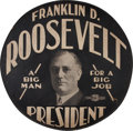 Political:3D & Other Display (1896-present), Franklin D. Roosevelt: Superlative Tire Cover. ...