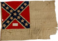 "Military & Patriotic:Civil War, Confederate Second National Flag, ""The Stainless Banner,"" Captured at Battery Bee in Charleston Harbor on February 16, 1865. ..."