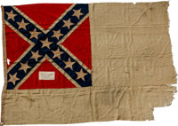 "Confederate Second National Flag, ""The Stainless Banner,"" Captured at Battery Bee in Charleston Harbor on Febr..."
