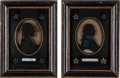 Political:3D & Other Display (pre-1896), George Washington and Aaron Burr: Silhouettes on Glass....