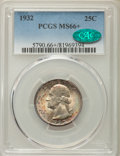 Washington Quarters, 1932 25C MS66+ PCGS. CAC. PCGS Population: (231/7 and 33/0+). NGCCensus: (102/4 and 1/0+). CDN: $550 Whsle. Bid for proble...