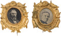 Political:Ferrotypes / Photo Badges (pre-1896), Rutherford B. Hayes and Samuel J. Tilden: Matching Ferrotypes....(Total: 2 Items)