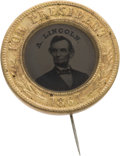 Political:Ferrotypes / Photo Badges (pre-1896), Abraham Lincoln: Choice Ferrotype Badge....