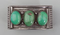 American Indian Art:Jewelry and Silverwork, A Navajo Silver and Turquoise Bracelet. c. 1900...