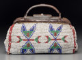 American Indian Art:Beadwork and Quillwork, A Sioux Beaded Leather Doctor's Bag. c. 1890... (Total: 3 Items)