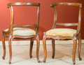 Furniture : French, A Pair of Louis XV-Style Carved Fruitwood Fauteuils, late 19thcentury. 35 h x 19 w x 20 d inches (88.9 x 48.3 x 50.8 cm). ...(Total: 2 Items)