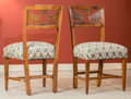 Furniture , Three Italian Carved Walnut Chairs, 19th century and later. 34-1/2 h x 19-1/4 w x 15-3/4 d inches (87.6 x 48.9 x 40.0 cm). ...