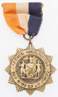 Olympic Collectibles:Autographs, 1928 Amsterdam Olympics New York Mayor's Committee PresentationalMedal....