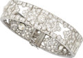 Estate Jewelry:Bracelets, Art Deco Diamond, Platinum Bracelet, Lacloche Frères, French. ...
