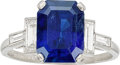 Estate Jewelry:Rings, Sapphire, Diamond, Platinum Ring, Bailey, Banks, and Biddle. . ...