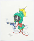 Animation Art:Production Drawing, Virgil Ross - Marvin Martian Illustration Original Art (Warner Brothers, c. 1990s)....