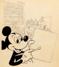 Animation Art:Production Drawing, Mickey Mouse Illustration (Walt Disney, c. 1960-70s)....