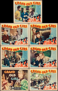 "Grand Old Girl (RKO, 1935). Tile Lobby Card & Lobby Cards (6) (11"" X 14""). Drama. ... (Total: 7 Items)"