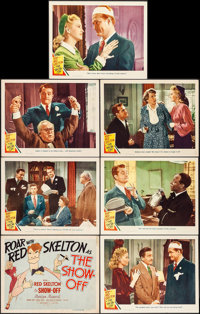 """The Show-Off (MGM, 1946). Title Lobby Card & Lobby Cards (6) (11"""" X 14""""). Comedy. ... (Total: 7 Items)"""