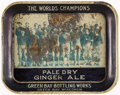 Football Collectibles:Others, 1931 Green Bay Packers Pale Dry Ginger Ale Tray. ...
