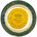 """Football Collectibles:Others, 1960 Green Bay Packers """"Sneezer's Snack Shop"""" Original Ashtray. ..."""